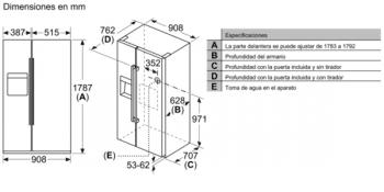 Bosch KAD93VIFP Frigorífico Americano Inox | Dispensador agua y hielo | A+ | Serie 6 | Envío + Instalación Gratis - 11