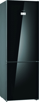 Bosch KGN49LBEA Frigorífico combi en cristal Negro | 203 x 70 cm | No Frost| Clase E | Serie 6