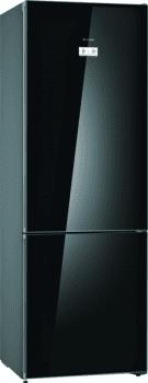 Bosch KGN49LBEA Frigorífico combi en cristal Negro | 203 x 70 cm | No Frost | WiFi HomeConnect | A++ | Serie 6