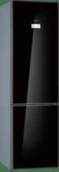 Bosch KGN39LBE5 Frigorífico combi en cristal Negro | 203 x 60 cm | No Frost | WiFi HomeConnect | Clase E | Serie 6 - 1