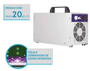 OP-20 Cañón Generador de Ozono 20gr/h Portátil con Temporizador | Certificado