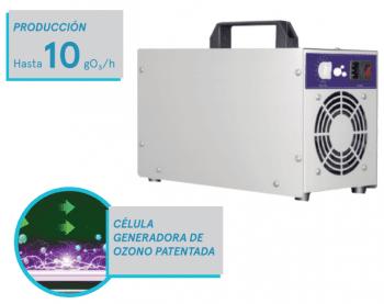 OP-10 Cañón Generador de Ozono 10gr/h Portátil con Temporizador | Certificado