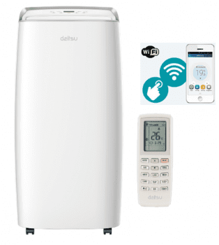 Daitsu APD-12HK Aire Acondicionado Premium Portátil WIFI Frío+Calor A+ Ref. 3NDA0099