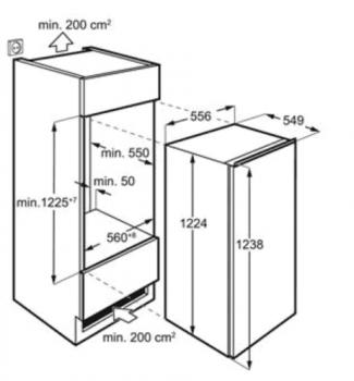 Congelador Vertical Integrable AEG ABE812E6NF de 122 x 55.6 cm con No Frost | Clase E - 3