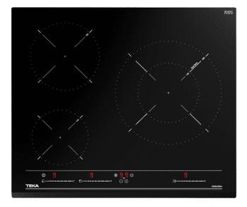 Placa de Inducción Teka IZC 63015 (Ref. 112520017) de 60cm Cristal Negro con 3 Zonas Ø160/280mm | Función Power Plus y Función STOP & GO