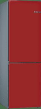 Frigorífico Combi KVN39IR3A Puerta personalizable Rojo cereza 203 x 60 cm No Frost A++   Serie 4