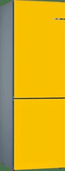 Frigorífico Combi KVN39IF3A Puerta personalizable amarillo 203 x 60 cm No Frost A++ | Serie 4