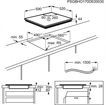 Placa de Inducción AEG IAE63421CB Flexible   60 cm   3 Zonas de cocción con PowerBoost   Conexión Placa-Campana Hob2Hood - 8