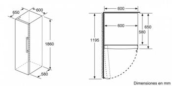 Frigorífico Vertical Balay 3FCE568WE 1P Blanco de 186 x 60 cm Cajón ExtraFresh Iluminación LED Clase A++ | Nuevo 2021 - 7