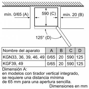 Frigorífico Combi Bosch KGN33NW3A Libre Blanco de 176 x 60 cm Apertura Derecha Reversible No Frost Clase A++ - 4