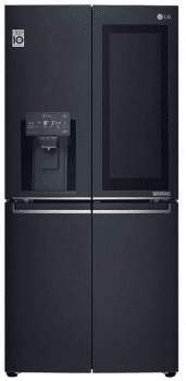 Frigorífico Americano Combi LG GMX844MCKV Negro Mate antihuellas de 178.7 x 83.6 cm con 570 L Dispensador agua y hielo Door-in-Door InstaView Clase F