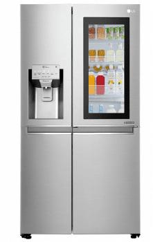 Frigorífico Americano Combi LG GSX961NSVZ Acero Antihuellas de 179 cm No Frost Door-in-Door Instaview con 601 L Dispensador agua y hielo WiFi Clase E