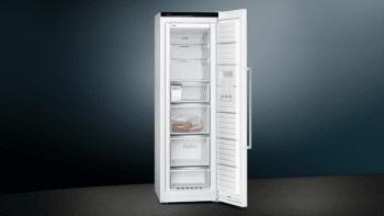 Congelador Vertical Siemens GS36NAWEP 1P Blano de 186 x 60 cm 242 L No Frost | Dispensador de hielo iceTwister | Clase A++ | iQ500 - 3
