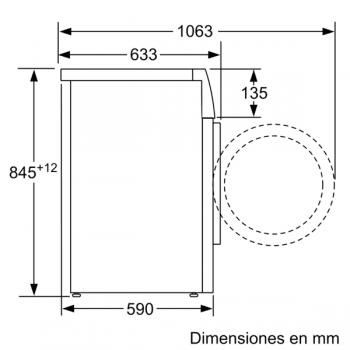 Lavadora Bosch WAU28S40ES Blanca de 8 kg a 1400 rpm | Autodosificación i-DOS, EcoSilence | Motor EcoSilence Clase A+++ - 7
