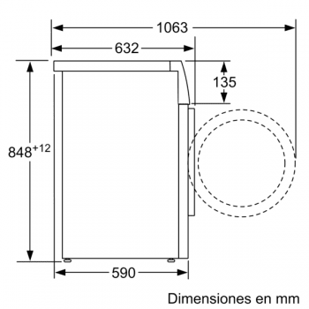 Lavadora Bosch WAU28S40ES Blanca de 8 kg a 1400 rpm | Autodosificación i-DOS, EcoSilence | Motor EcoSilence Clase A+++ - 9