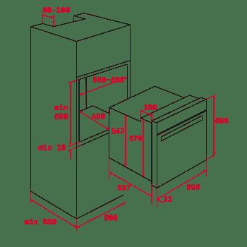 Horno Teka HLB 8400 en Cristal Gris de 60 cm 70L con 9 funciones de cocción a 5 alturas Clase A+ - 9