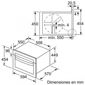 Horno Balay 3CW5179A0 Compacto de 45 cm en Gris Antracita con Microondas | Programa Autochef 15 recetas - 7