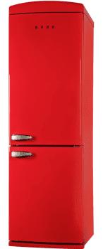 Frigorífico Combinado SVAN SVRR182 Color Rojo Retro 189cm | No Frost | Control Electrónico | Clase E