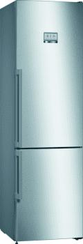 Frigorífico Combi Bosch KGF39PIDP de 203 x 60 cm, en acero inoxidable antihuellas, No Frost, Clase A+++ | Serie 8