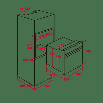 Horno Compacto Teka HLC 8400 Multifunción en Cristal Gris con SurroundTemp, Hydroclean Clase A+ - 10