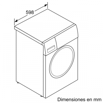 Lavadora Bosch WAN24265ES Blanca de 8Kg a 1200 rpm | Motor EcoSilence | A+++ -10% | Serie 4 - 7
