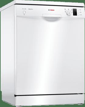 Lavavajillas Bosch SMS25AW05E Blanco de 60 cm con 12 servicios | Media carga y AquaStop | Motor EcoSilence A++ | Serie 2