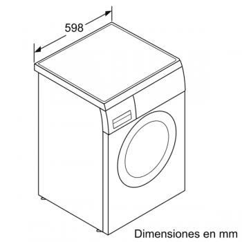 Lavadora Bosch WUU28T6XES Inox de 8Kg a 1400 rpm | Pausa + carga | Motor EcoSilence A+++ -30% | Serie 6 - 6