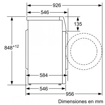Lavadora Bosch WAJ20061ES Blanco de 7Kg a 1000 rpm | Pausa + carga | Motor EcoSilence A+++ -10% | Serie 2 - 7