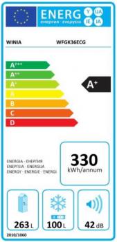 Frigorífico 2P Winia WFGK36ECG | Inox | 170.5 x 69 cm | 363 L | No Frost | A+ - 3
