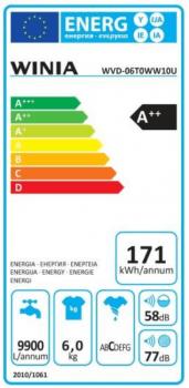 Lavadora Winia WVD-06T0WW10U Blanca de 6Kg a 1000 rpm | Clase A++ - 2