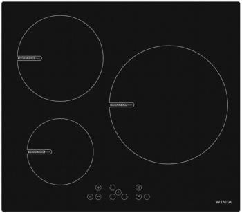 Placa de Inducción Winia WKCI-V290 de 60 cm con 3 zonas de cocción y 9 niveles de potencia