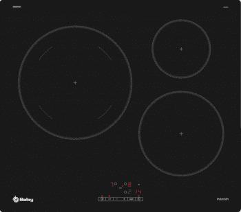 Placa de Inducción Balay 3EB865ERS de 60 cm con 3 Zonas de cocción