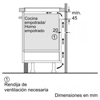 Placa de Inducción Balay 3EB865ERS   60 cm   3 Zonas - Max. 28 cm - 7