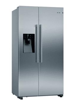 Frigorífico Americano Bosch KAD93AIEP Inox antihuellas de 178.7 x 90.8 cm No Frost | Dispensador agua y hielo | Motor Inverter | Clase F | Serie 6