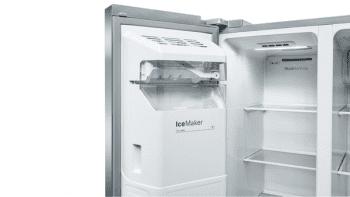 Frigorífico Americano Bosch KAD93AIEP Inox antihuellas de 178.7 x 90.8 cm No Frost | Dispensador agua y hielo | Motor Inverter A++ | Serie 6 - 6