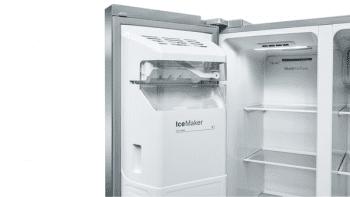 Frigorífico Americano Bosch KAD93AIEP Inox antihuellas de 178.7 x 90.8 cm No Frost | Dispensador agua y hielo | Motor Inverter | Clase F | Serie 6 - 6