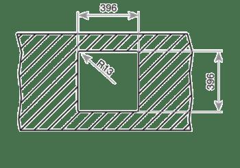 Fregadero Teka BELINEA RS15 40.40 bajo encimera de 50 cm con cubeta SilentSmart - 4