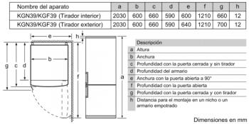 Frigorífico Combi Balay 3KFD766WI 203x60cm | Color Blanco | Cajón ExtraFresh | Tiradores Verticales | Clase D - 8