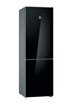 Frigorífico Combi Balay 3KFE565BI de 186x60cm | Cristal Negro | Cajón ExtraFresh | iluminación LED | Clase A++