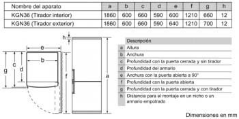 Frigorífico Combi Balay 3KFE566WE de 186x60cm | color Blanco | Libre instalación | NoFrost | Clase E - 8