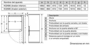 Frigorífico Combi Bosch KGB86AIFP XXL Inox antihuellas de 186 x 86 cm No Frost | Clase F | Serie 6 - 7