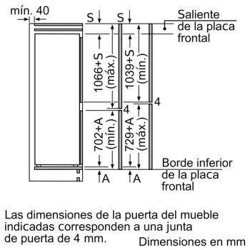 Frigorífico Combi Bosch KIN86AFF0 Integrable de 177.2 x 55.8 cm | Motor Inverter Clase A++ | Serie 6 - 9