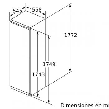 Congelador Vertical Bosch GIN81AEF0 1P Integrable de 177.2 x 55.8 cm No Frost | Motor Inverter Clase A++ | Serie 6 - 4