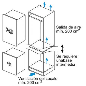 Congelador Vertical Bosch GIV11AFE0 1P Integrable de 71.2 x 55.8 cm   Clase E   Serie 6 - 6
