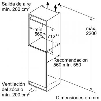 Congelador Vertical Bosch GIV11AFE0 1P Integrable de 71.2 x 55.8 cm   Clase E   Serie 6 - 8