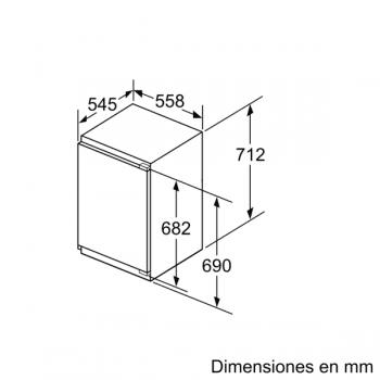 Congelador Vertical Bosch GIV11AFE0 1P Integrable de 71.2 x 55.8 cm   Clase E   Serie 6 - 9