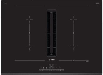Placa de Inducción Bosch PVQ731F25E de 70 cm con Campana integrada a 622 m³/h | 2 Zonas de cocción combinadas | Clase B