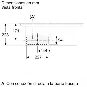Placa de Inducción Bosch PVQ731F25E de 70 cm a 622 m³/h con 2 Zonas de cocción combinadas | Con campana integrada | Clase B - 6