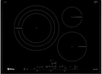 Placa de Inducción Balay 3EB977LV de 70cm | Color Negro | Función Sprint | 17 niveles de potencia | STOCK