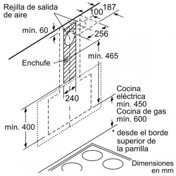 Campana Decorativa Balay 3BC598ANC de 90cm | Cristal Negro | Control Placa-Campana - 8